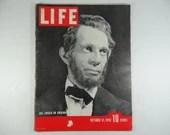 Vintage 1938 Life Magazine October 31 , Abe Lincoln on Broadway - Raymond Massey