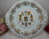 1960s Vintage Paragon Fine Bone China Canada Coat of Arms Cake or Serving Plate