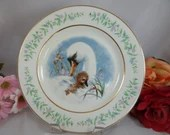 1975 Wedgwood Avon Gentle Moments Plate Swan and Baby In Original Box