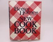 Vintage 1968 Better Homes and Gardens New Cookbook Hardcover Binder - 20 Sections - Desserts Eggs Sauces Beverages Barbecue Appetizers Snack