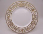 """Vintage Royal Worcester English Bone China """"Hyde Park"""" Dinner Plate - 8 Available"""