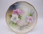 Vintage Made in Germany Hand Decorated Orchid Plate Delightful