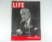 1944 Life Magazine Wartime Issue, September 4 , Cordell Hull - The Liberation of Paris
