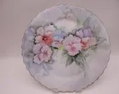 Large Vintage Hand Painted Artist Signed Serving or Cake Plate  - Outstanding