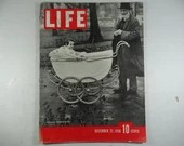 5th Ever Issue 1936 Life Magazine, December 21, Lord Beaverbrook's Granddaughter and Friend, Edward and Mrs Simpson,  Crystal Palace
