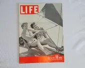 "Vintage 1941 Life Magazine WWII Wartime Issue, July 14, ""Sand Sailing"" - Invasion of Crete - Spy Roundup"