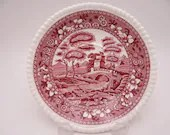 """Vintage Spode Made in England """"Spode Tower"""" Pink Medium Saucer- 14 Available"""