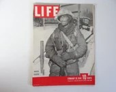 Vintage 1945 Life Magazine War Issue February 26 , Winter Soldier