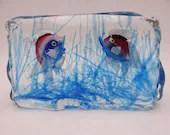 Vintage Murano Cenede Verti Art Glass Aquarium