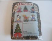 Bucilla Christmas Pull Toys Ornaments Plastic Canvas Crafting Kit  Christmas Ornaments - Santa Tree Snowman Soldier Horse Angel Ornaments