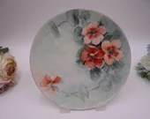 1930s Vintage Hand Painted and Artist Signed Austrian Poppy Flower Plate Charming