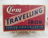 1950s Vintage Clem Travelling Iron in Original Box