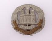 Vintage British Military Hat Cap Badge The Northamptonshire Regiment Gibraltar Talavera