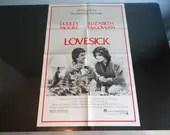 "Original One Sheet Movie Poster 1983 ""Lovesick"" - Duddley Moore  - Elizabeth McGovern"