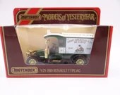 """Never Out of Box Vintage Lesney Matchbox Y-25 Models of Yesteryear """"CEBR Delhaize"""" 1910 Renault AG Diecast Car in Original Box"""