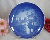 1973 Bing and Grondahl B G Christmas Collector Plate Country Christmas