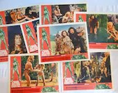 """Original 1966 Complete Set of 8 Movie Lobby Cards """"One Million Years B.C."""" with Raquel Welch"""