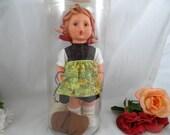 "1964 1700 Series Goebel Vinyl Doll  ""Ganseliesl"" Goose Girl with Tag in Orginal Box"