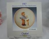 Goebel Hummel 1987 3D Relief Annual Miniature Plate Band Leader In original Box