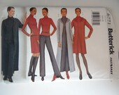 Vintage Butterick #6771 Sewing Pattern - Sizes 6 8 10 - Misses Long Hooded Tunic Jacket Skirt Pant Top - Fast & Easy