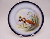 1900s Vintage Guerin Limoges France Game Bird Plate
