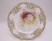 1920s Vintage L. W. Levy & Co Hand Painted Limoges France Artist Signed Factory Decorated Plate - Stunning Amazing