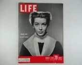 "1950 Life Magazine, March 6,  Marsha Hunt in ""The Devil's Disciple"""
