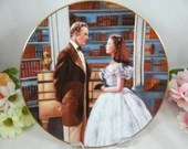 """1991 Gone With the Wind """"A Declaration of Love"""" Collector Plate Limited Edition - Critics Choice Series"""