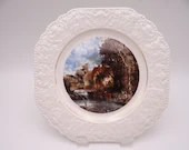 """Vintage English Bone Chine Lord Nelson Pottery """"Country Scene"""" Plate"""