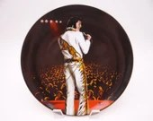 "Vintage Elvis Presley Delphi Performance Collection Series ""On Stage at Wichita, 1974"" Limited Edition Collector Plate"