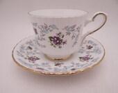 """1950s Vintage English Royal Stafford  """"Enchantment"""" Teacup and Saucer English Tea Cup"""