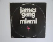 "Plays Well Vintage 1974 Atco Records James Gang ""Miami"" LP Vinyl Record Album SD 36-102  Classic Rock"