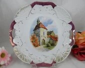 1900s Unger & Schilde Three Crown China Germany Two Handled Cake Plate