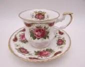 Vintage English Bone China Clifton Red Rose Teacup and Saucer Set English Tea Cup - 13