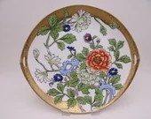 1891-1911 Antique Hand Painted Nippon Handled Colorful Serving or Cake Plate