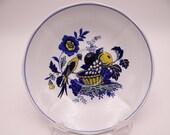"Vintage Copeland Spode English Bone China Teacup Saucer ""Blue Bird"" Pattern"