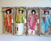 Extremely Rare Complete Set of 4 Starshine Sgt. Pepper Beatles Dolls in Original Boxes