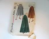 Vintage 1950s Simplicity #2666 Skirt Pattern Waist 26 Hip 35- Cut but Complete - Mid Century Modern