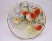 Vintage Hand Painted Limoges France Apples Plate