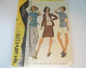 Vintage 1970s McCall's #4126 Woman's Jacket Skirt and Pant Sewing Pattern a Size 14 with Bust 36 - Cut but Complete - Mid Century Modern