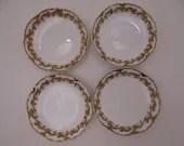 1900s Haviland & Co Limoges France Clover Leaf Set of 4 Butter Pats Schleiger 98