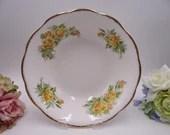 """1940s Vintage Royal Albert English Bone China Yellow """"Tea Rose"""" Round Vegetable or Fruit or Serving Bowl"""