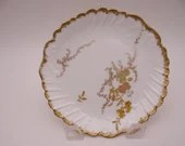 1890s Vintage Factory Decorated L. S & S Lewis Straus and Sons Limoges France Small Plate Outstanding
