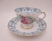 Spectacular English Bone China Rosina China Pink Rose Teacup and Saucer Set English Tea Cup 4486