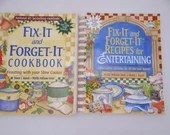 Vintage Pair of Fix-It and Forget-It Slow Cooker Recipe Cookbooks
