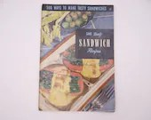 "1950s Vintage Culinary Arts Institute Recipe Booklet ""500 Tasty Sandwich Recipes"""