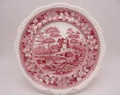 """Vintage Spode Made in England """"Spode Tower"""" Pink Dinner Plate - 22 Available"""