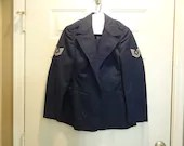 Vintage Air Force Sergeant Womens Blue Dress Jacket Size 10S