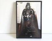 """Vintage Signed """"David Prowse"""" as Darth Vader Framed Photo"""