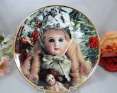 """Franklin Mint Heirloom Recommendation Hanau Doll Museum """"Celeste"""" Limited Edition Collector Plate"""